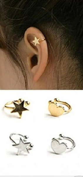 Ear cuffs gold heart picture