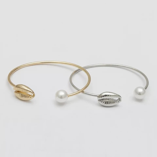 Pearl and shell bangle picture