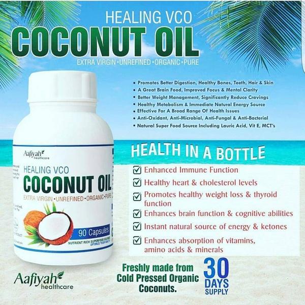 Coconut oil 180 caps picture