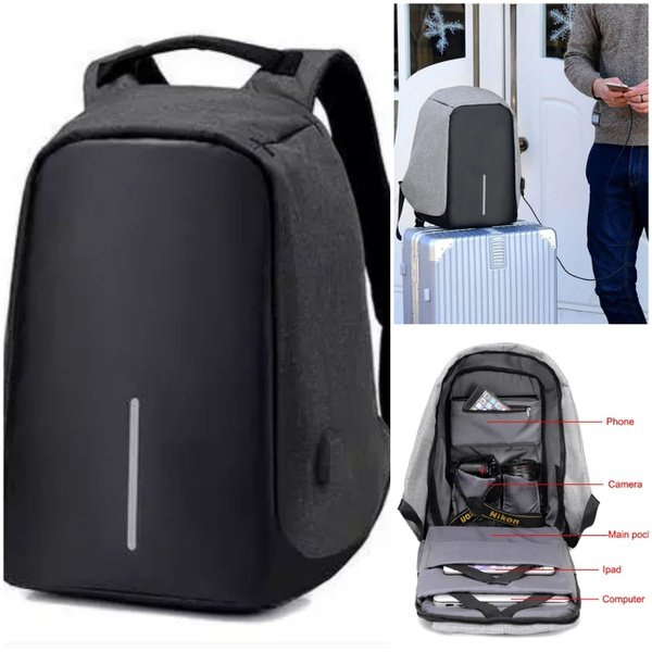 Anti theft laptop bag picture
