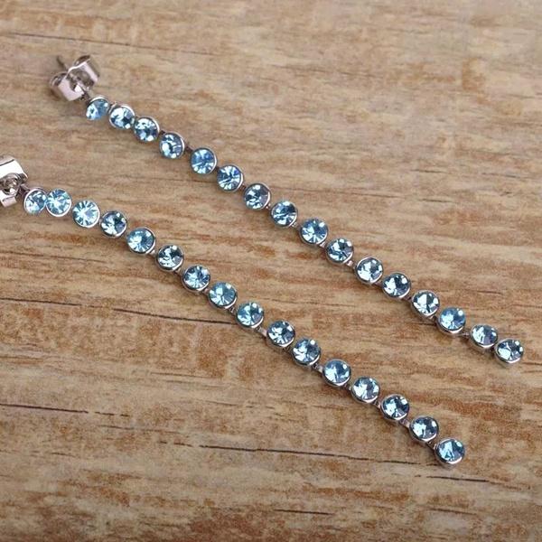 Long diamante earrings picture