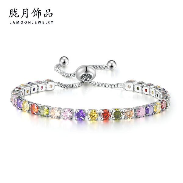 Colorful tennis bracelet #21 picture