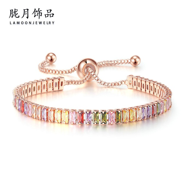 Colorful tennis bracelets picture
