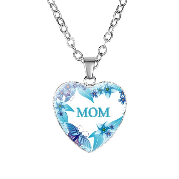 Blue mom necklace picture