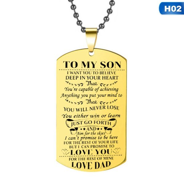To my son. love,dad picture