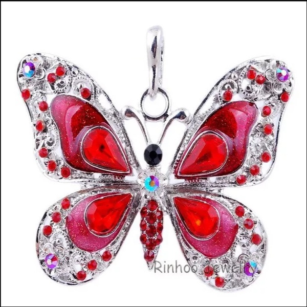 Butterfly necklaces black bhead picture
