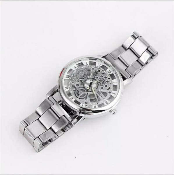 Steel band transparent watch picture