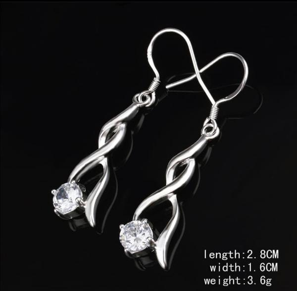 Diamante earrings picture