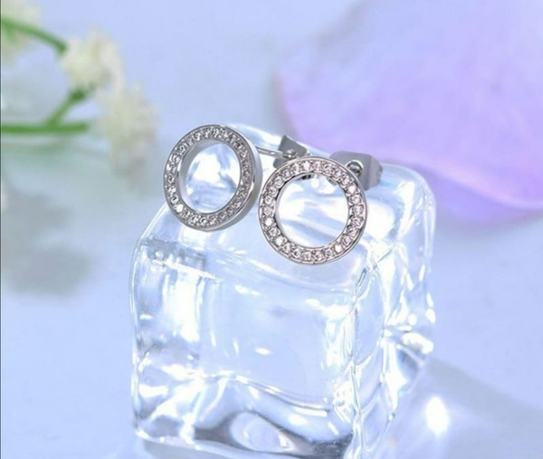 Circle diamante earrings picture