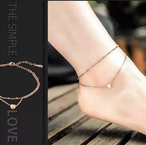 Dainty heart anklet picture