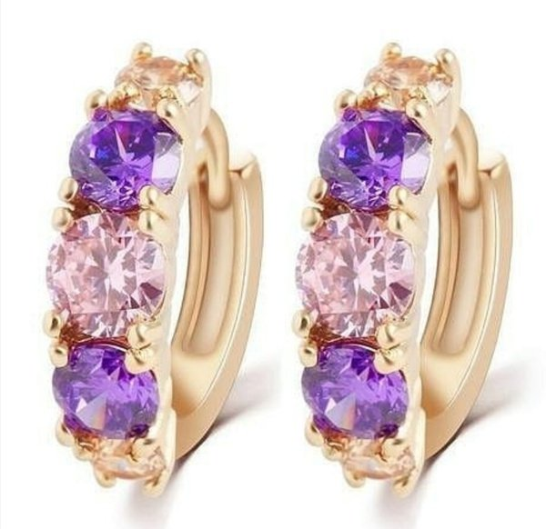 Purple shades earrings picture