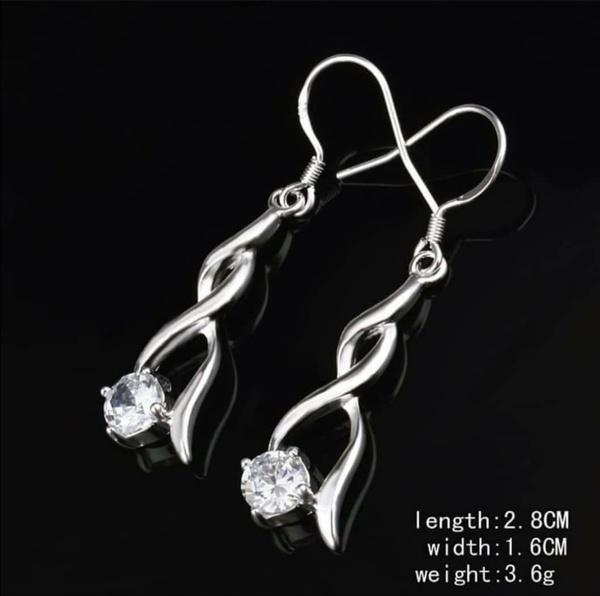 Diamante design earrings picture