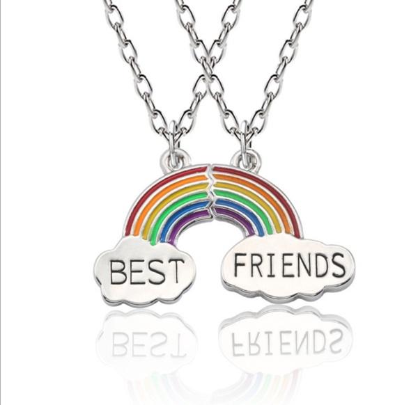 Best friends rainbow necklace picture