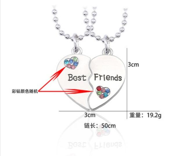Best friends heart necklace picture