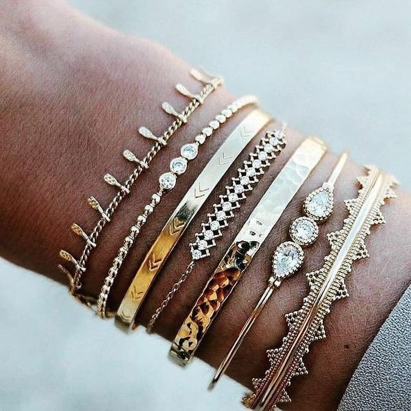 7 piece bracelet set picture