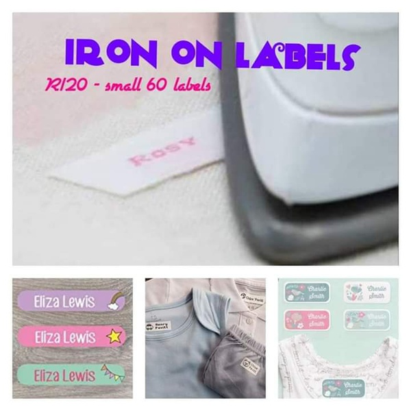 A4 iron on labels for school clothing picture
