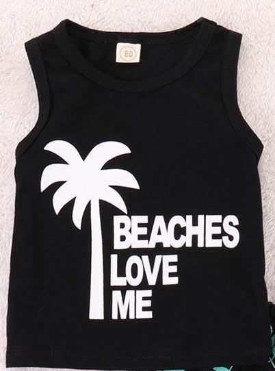 Beaches love me - woman racer back picture
