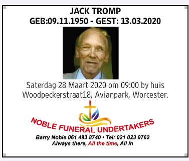 Late jack tromp picture