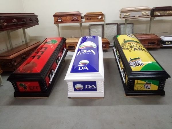 Political party caskets-domes picture