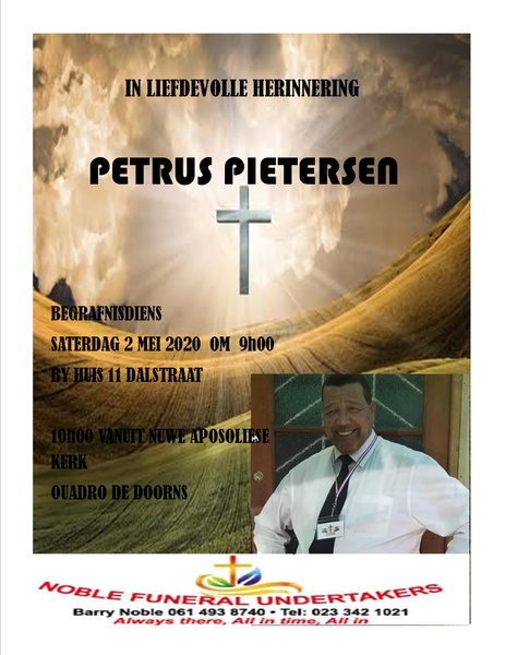 Late petrus pietersen picture