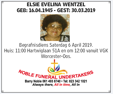 Funeral -ant tossie (wentzel nee stryers picture