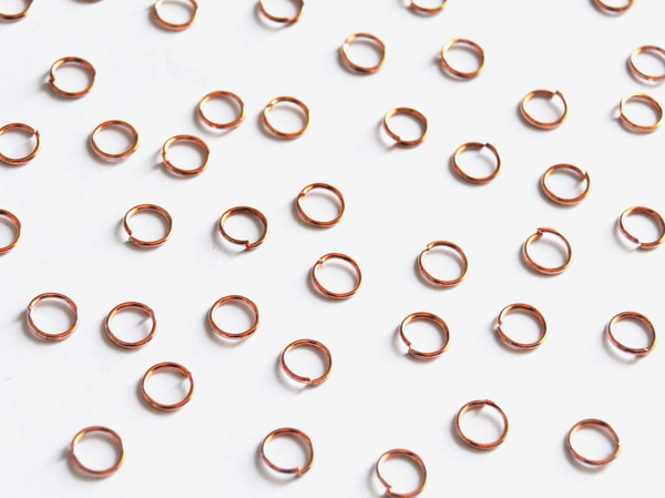 Rose gold jump ring 5mm. picture