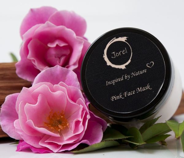 Pink clay mask picture