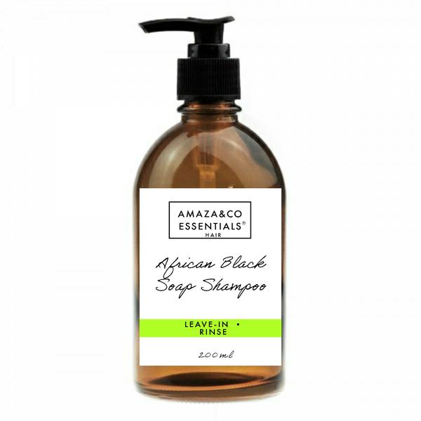 Black soap shampoo picture