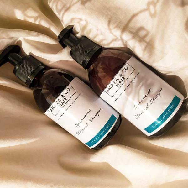 Charcoal spearmint shampoo picture