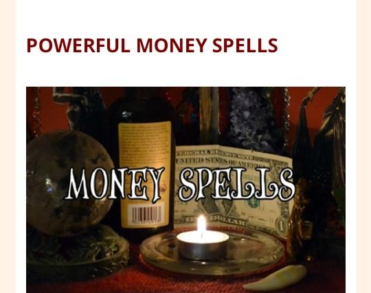 POWERFUL MONEY SPELLS picture