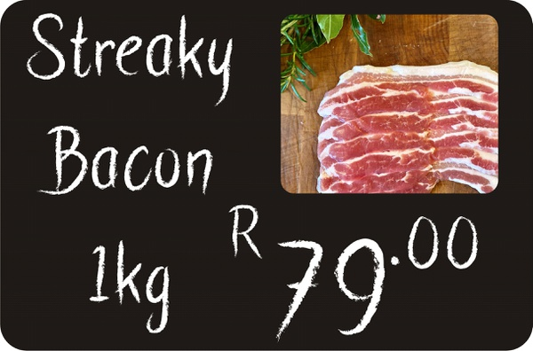 Streaky bacon picture