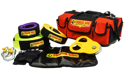 Tdrk-08t tough dog recovery kit 8t/9m snatch strap picture