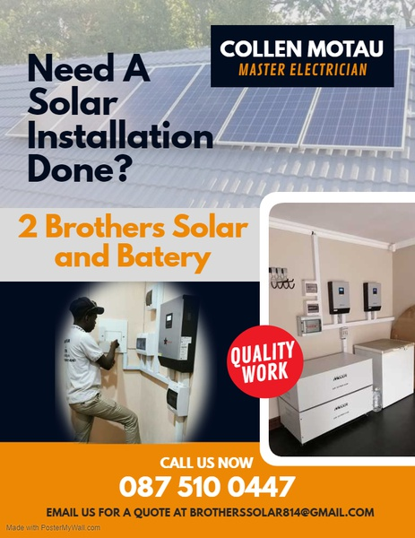 Electricity jobs and solar installation picture