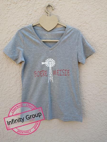 Boeremeisie tshirts grey picture
