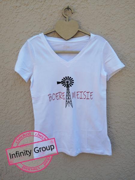 Boeremeisie tshirts white picture