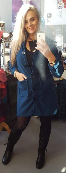 Code 13 coat teal picture