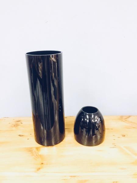 Black vases (pair) picture