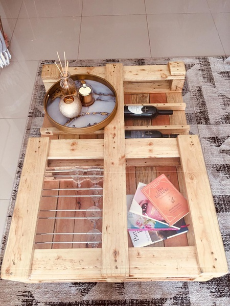 Coffee table rendani (clear stain) picture