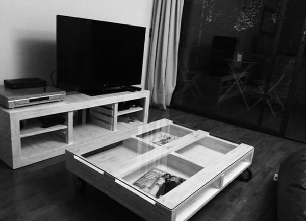 Tv unit and coffee table oakbliss picture