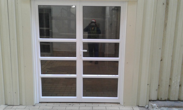 Double hinged door  with mullions picture