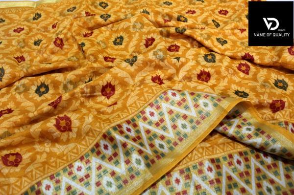 Cotton silk - printed picture