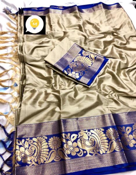 Silk saree  - ari picture