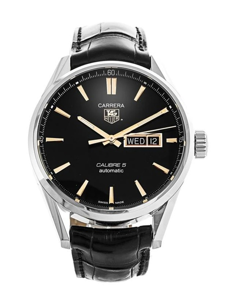 Tag heuer carrera calibre 5 day‑date automatic men's watch picture