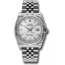 Rolex datejust stainless steel men's watch picture