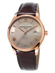 Frederique constant classics automatic light grey dial men's watch picture