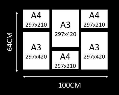 Combo 12 - a3 x 3 / a4 x 3 picture