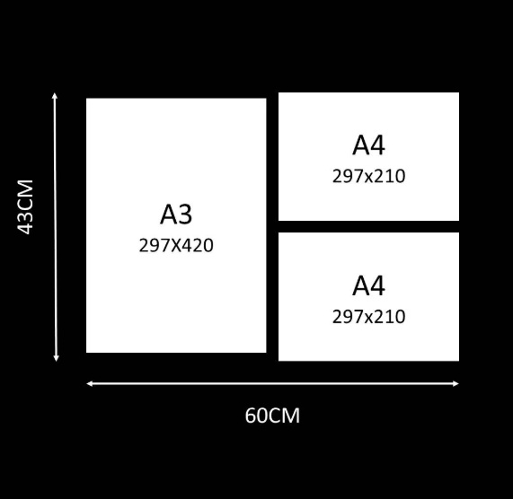 Combo 17: a3 plus 2 x a4 picture