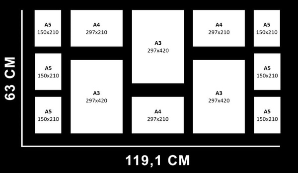 Combo 15 - a3 x 3 / a4 x 3 / a5 x 6 picture