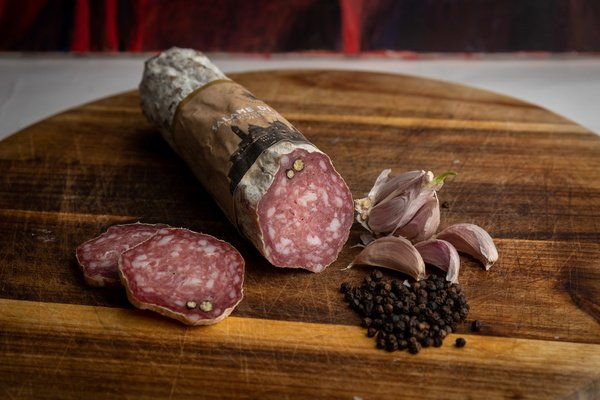 Salami di bergamo – traditional salami blended with subtle spices. picture