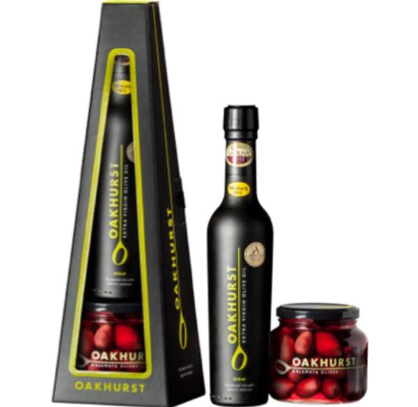 Oakhurst gift box - 375ml ev olive oil + 280g kalamata olives picture